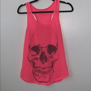 Pink skull tank